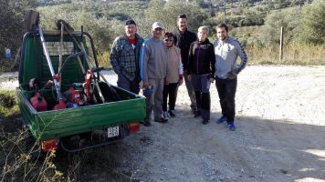 Oliven Ernte Team 2 Toscana | Casa Ray Poggio Agliai